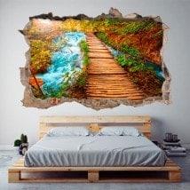 Nature 3D façon mur brisé vinyle