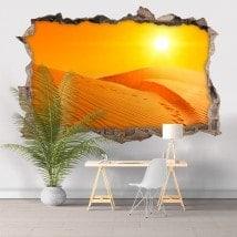 Vinyl 3D coucher de soleil dans le désert French 5812