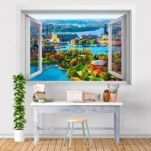 Vinyle fenêtre 3D Stockholm