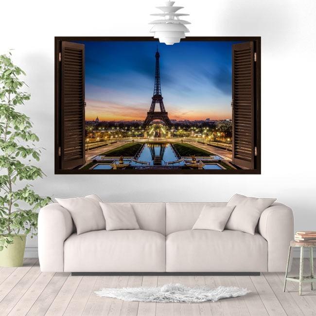 Vinyl Windows Paris Tour Eiffel