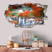 Chutes d'eau 3D de vinyle dans la nature