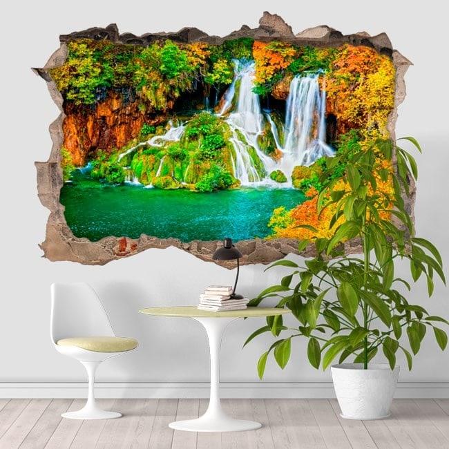 Nature 3D cascades vinyle