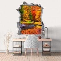 Arbres 3D de vinyle dans la nature