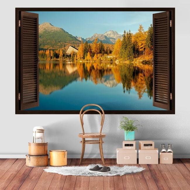 Windows 3D lac et montagnes