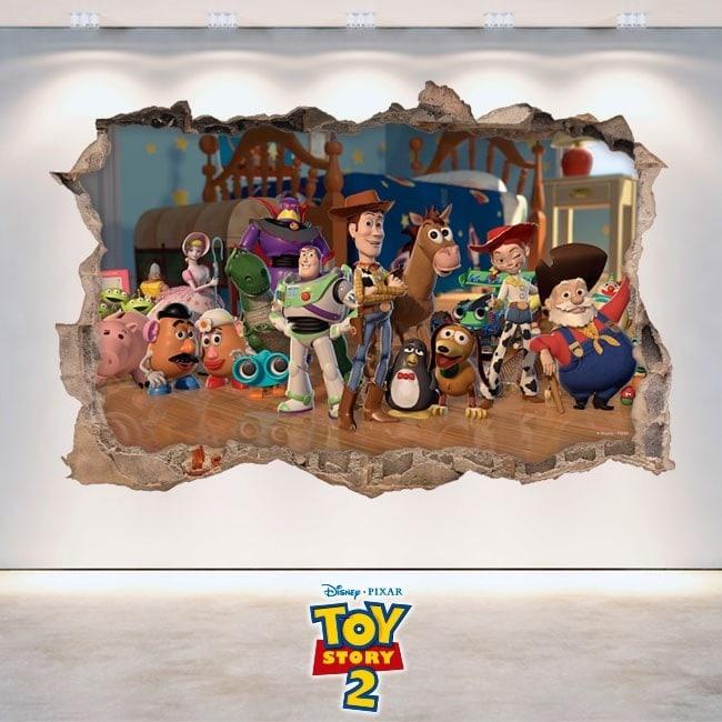 3D Toy Story 2 pour enfants en vinyle