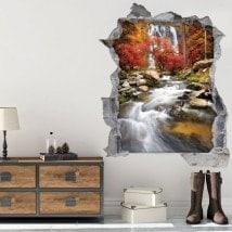 3D cascade de vinyle en automne