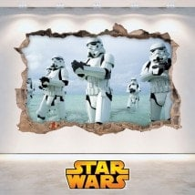 Stickers muraux Star Wars 3D French 5881