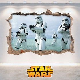 Stickers muraux Star Wars 3D