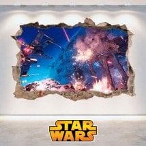 Vinyle murale Star Wars 3D