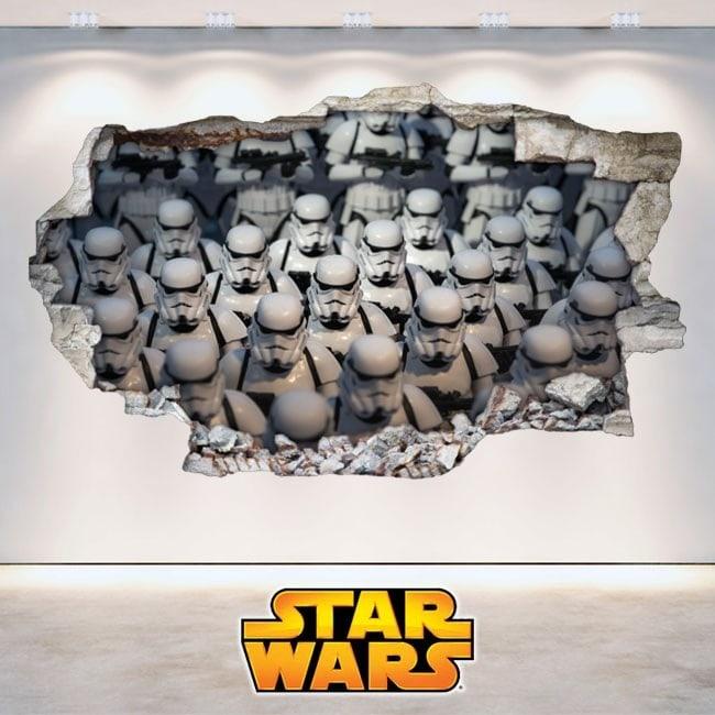 Autocollants 3D Star Wars des soldats Clones