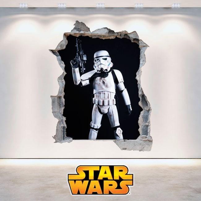 Clone Wars Star vinyle soldats 3D
