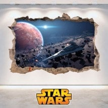 Trou de vinyle murs Star Wars 3D