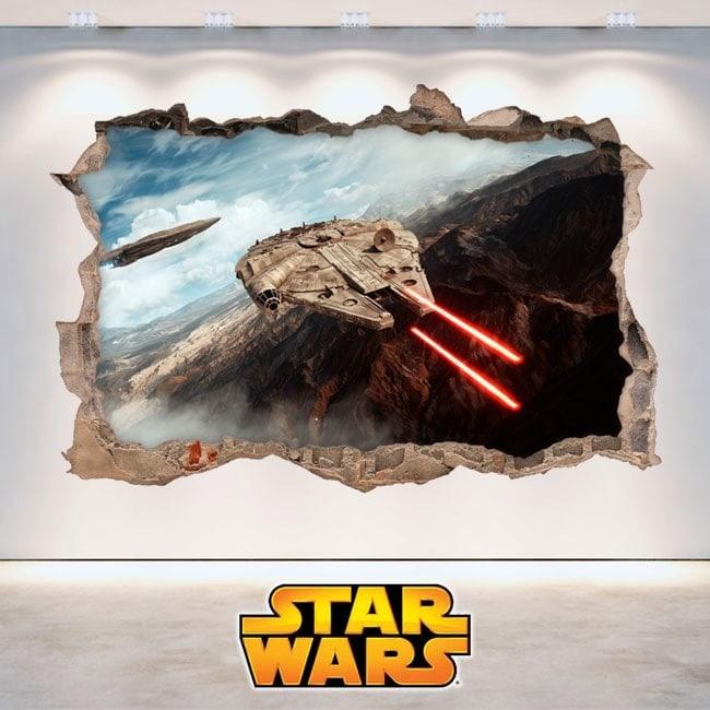 Décoratif vinyl Star Wars 3D