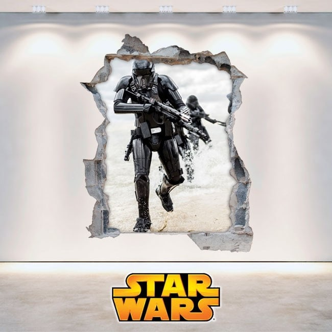 Stickers muraux Star Wars 3D French 5893
