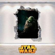 Vinyl mural Yoda Star Wars 3D