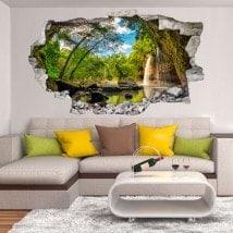 Montagnes de Cascades décoratifs vinyl 3D