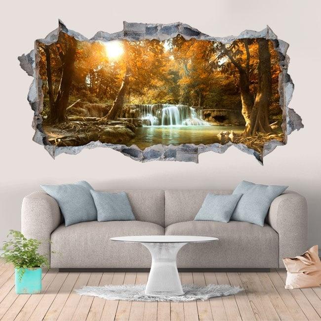 Chutes d'eau décoratifs de vinyle et de la nature 3D
