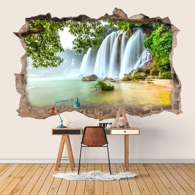 Nature de cascades vinyle mur 3D