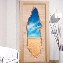 Portes de vinyle désert 3D
