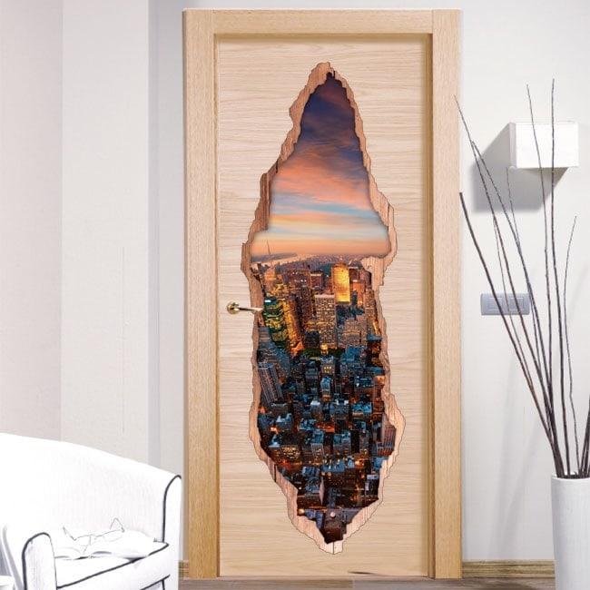 Portes de vinyle New York 3D