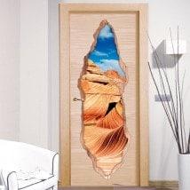 Vinyle pour la vague des portes 3D Arizona