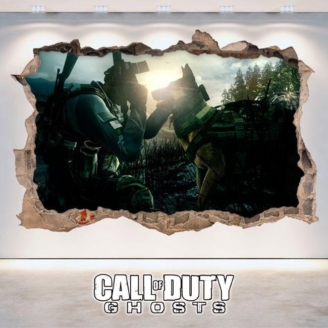 Décoratif vinyl 3D Call Of Duty Ghosts