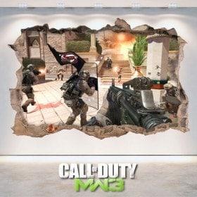 Autocollants de jeu 3D Call Of Duty Modern Warfare 3