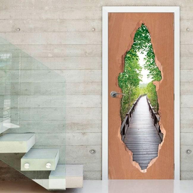 Pont de Gates dans la forêt pour vinyles