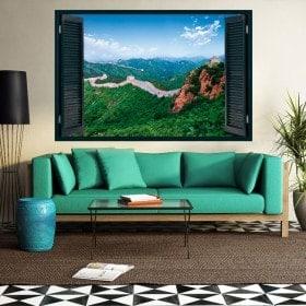 Les fenêtres de vinyle 3D de grande muraille de Chine