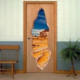 Le vinyle de porte du désert du Sahara