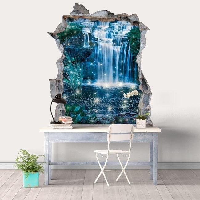 Vinyle décoratifs 3D cascades magiques