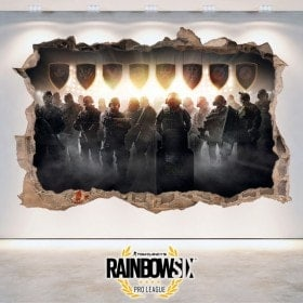 Rainbow Six siège Pro League d'autocollants 3D Tom Clancy