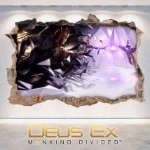 Décoratif vinyl 3D Deus Ex l'humanité divisée