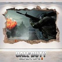 Vinyle décoratif 3D de Call Of Duty Black Ops 2