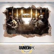 Rainbow Six de siège Pro League de vinyle 3D Tom Clancy