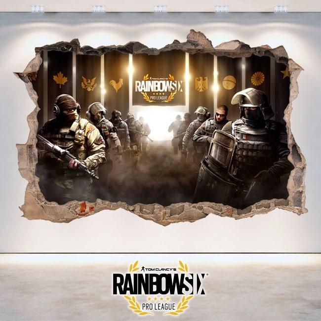Rainbow Six de siège Pro League de vinyle 3D Tom Clancy