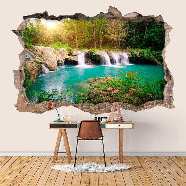 Cascades de mur de vinyle dans la nature