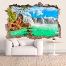 Chutes d'eau mur de vinyle Dray Nur 3D