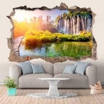 Cascades de mur en vinyle en Croatie 3D
