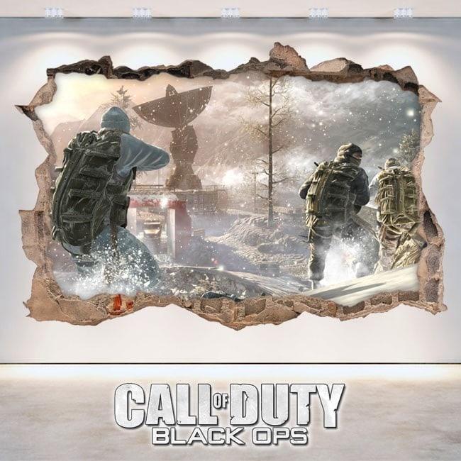 Vinyle décoratif 3D de Call Of Duty Black Ops