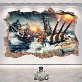 Décoratif vinyl 3D World de navires de guerre