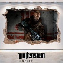 Wolfenstein 3D décoratif vinyl nouvel ordre