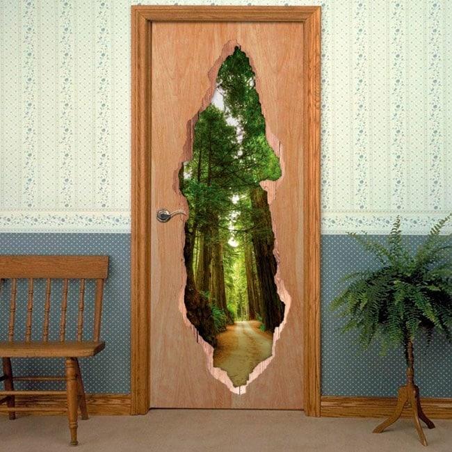 Portes de vinyle Parc National Redwood 3D