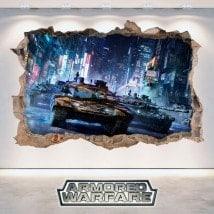 Autocollants et vinyle Armored guerre