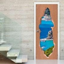 Porte de vinyle Ligurie Italie 3D