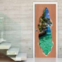 Paradis portes 3D Tropical pour vinyles