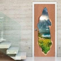 Nature des portes en Slovaquie 3D pour vinyles
