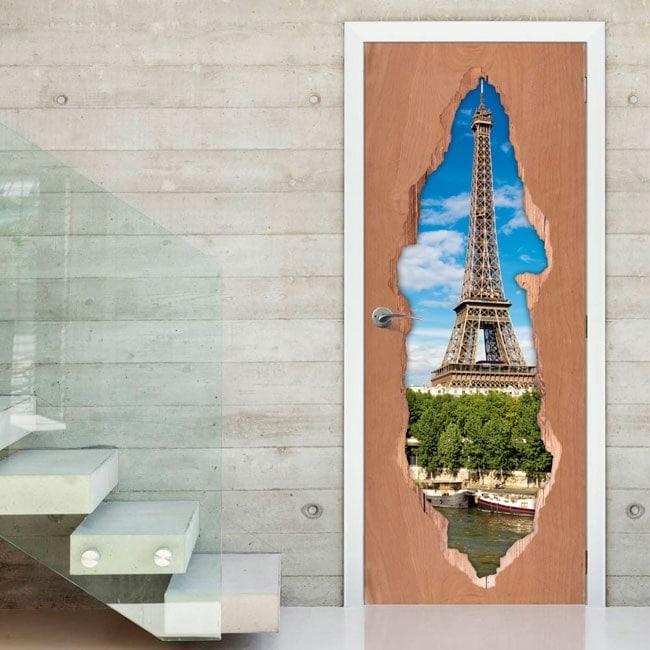 Tour de portes pour vinyle Eiffel Paris 3D