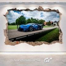 Panneaux luminescents de démarcation fluowall Bugatti 3D Vision grand tourisme