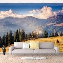 Nature et montagnes de peintures murales pour le mur photo